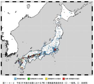 PM2.5 大気汚染 PM2.5全国分布